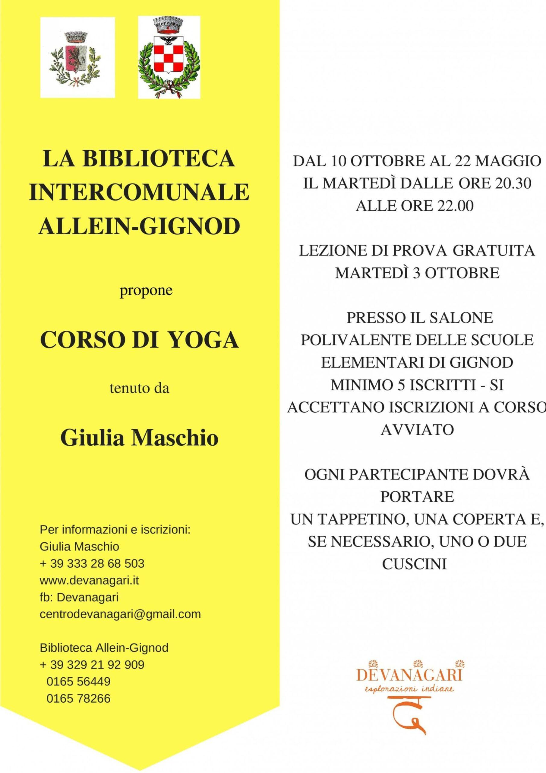Corso di yoga - Devanagari - Centro Yoga Aosta